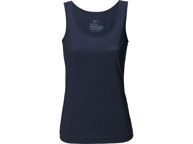 Jack Wolfskin Crosstrail T-shirt zippé Femme, midnight blue